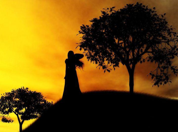Waiting at Sunset - Barbara quinn
