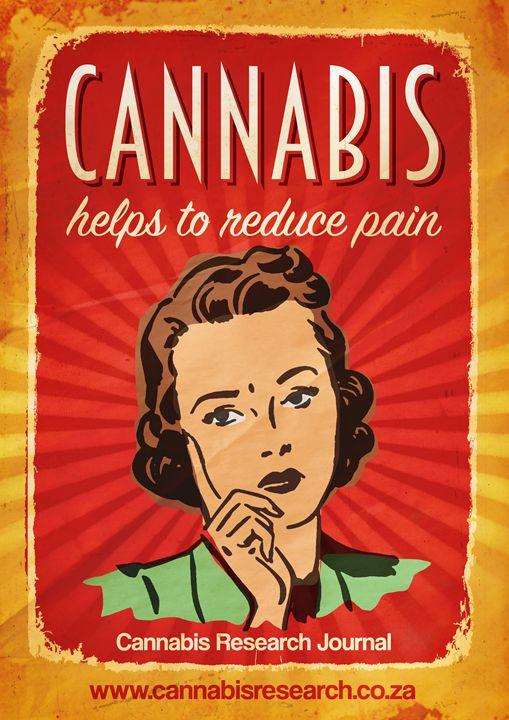 Cannabis stops chronic pain - Retro Cannabis Art
