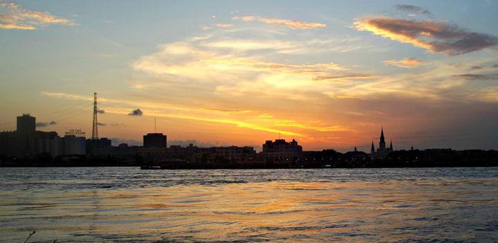 Sunset on the Mississippi - betZ editZ