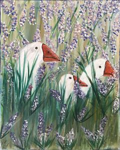 DUCKS IN LAVENDER