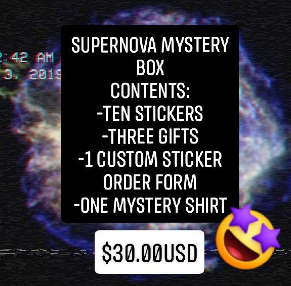 Supernova Space Face Mystery Box - Hyperion Art Exhibition- Bella Jade