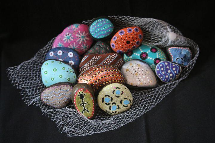 Muddy Waters Aboriginal Story Rocks - Muddy Waters Indigenous Designs