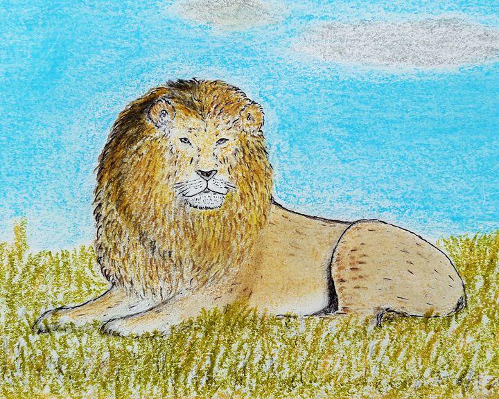 Lion  the king - Amitava0112