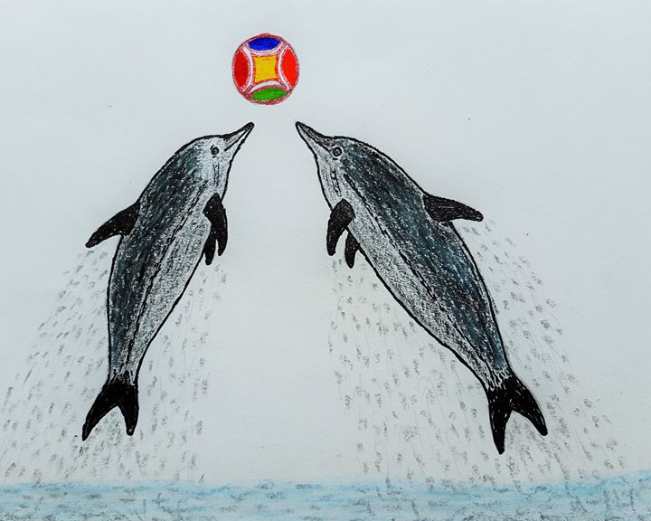 dolphins on the ball - Amitava0112