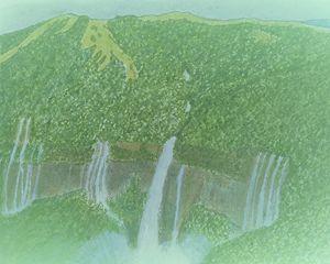 Nohkalikai falls in Meghalaya India