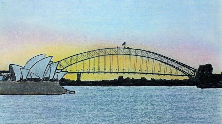 Sydney Harbour after sunset - Amitava0112