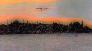 Dusk at Istanbul  Turkey