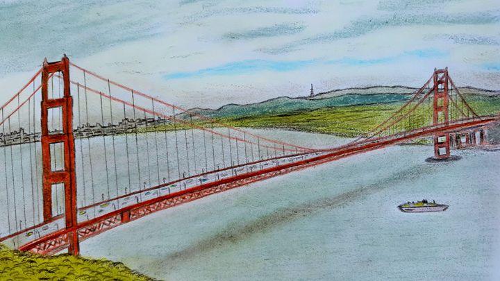 Golden Gate Bridge, San Fransisco US - Amitava0112