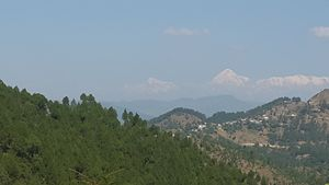 Almora with Himalayan view