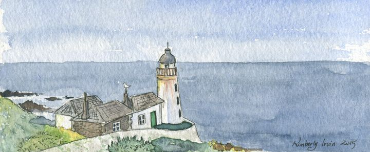 Isle O May Lighthouse - Lilies and Willows