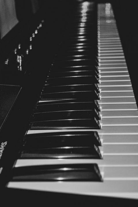 Black And White Digital Piano - Jennifer Wallace