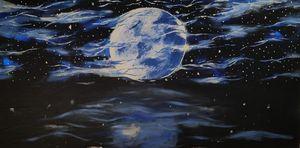 Moon lit storm