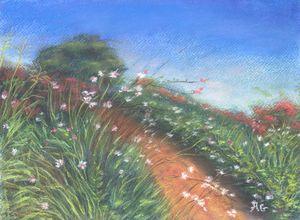 """Serenity""_Pastel landscape"