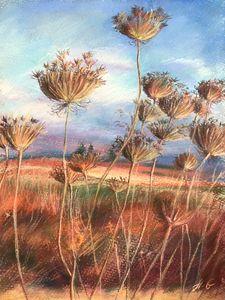 Old flowers fild_Pastel on paper