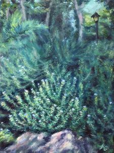 Rosemary in the garden_oil on canvas