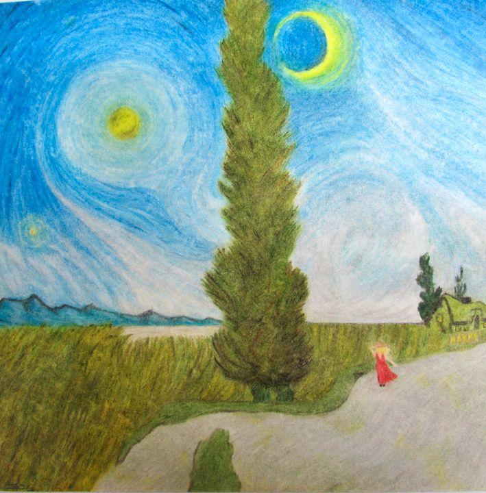 Cypress Sky (SOLD) - P.A.T.H. Prisoner Art That Helps