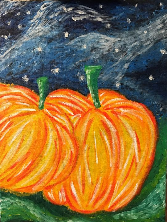 Pumpkins in the Night - Kimberli Witucki