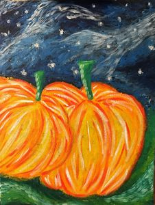Pumpkins in the Night