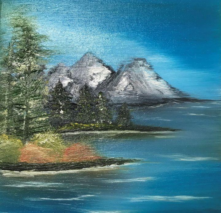 Distant Mountain Scene - Kimberli Witucki