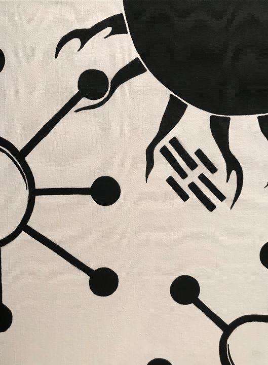 Black and White Abstract - Kimberli Witucki