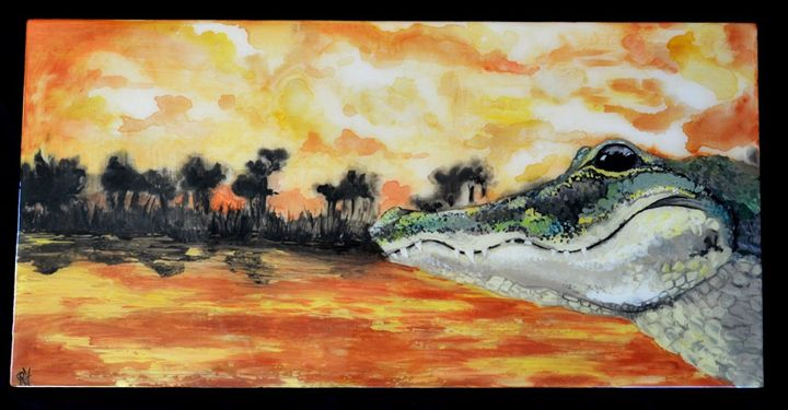 Alligator Sunset - Wicked Wallow Designs