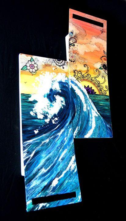 Ocean Wave Texture - Wicked Wallow Designs