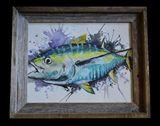 11x14 framed Tuna Watercolor