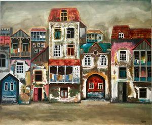City Acrylic Painting