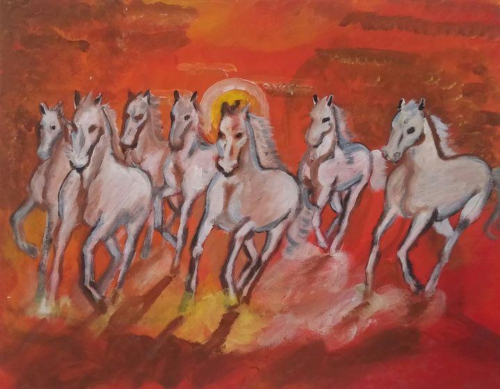 7 Horses of Wealth - Artbox