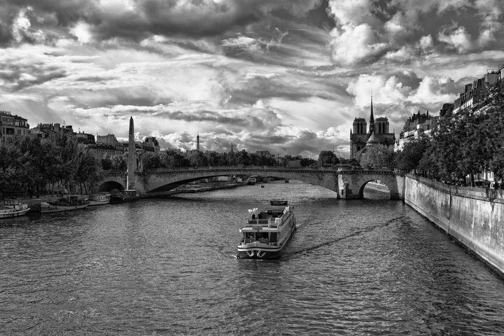 River Boat on the River Seine - Lynn Bolt Lochside Photos