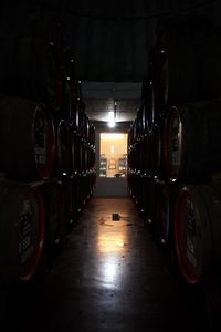 Barrels of Madeira Wine