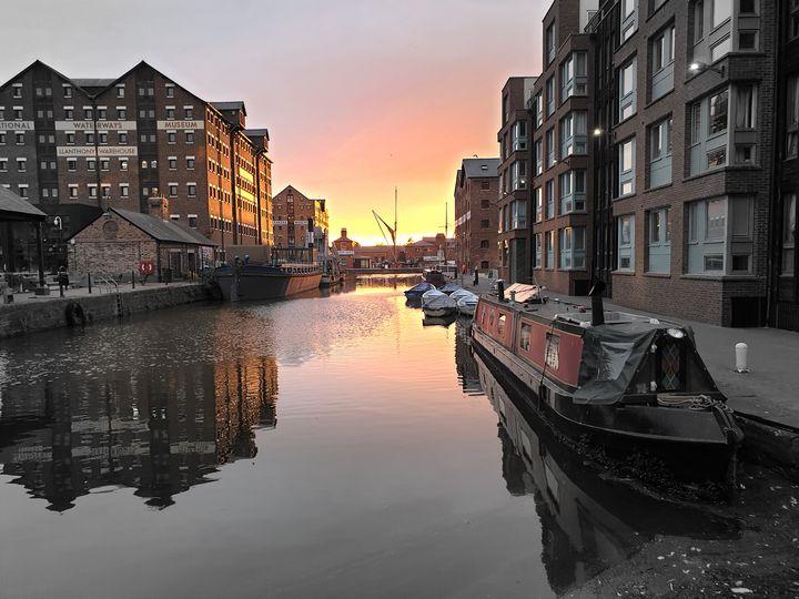 Gloucester Docks Sunset - Lynn Bolt Lochside Photos