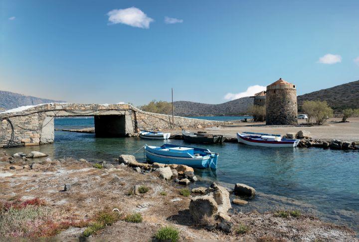 Boats and Windmills Crete - Lynn Bolt Lochside Photos