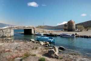 Boats and Windmills Crete