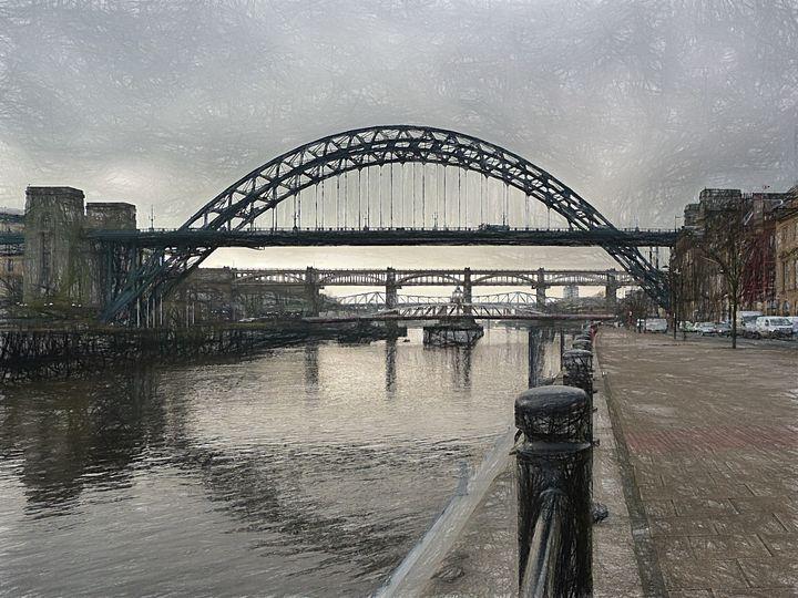 Bridges Over the River Tyne - Lynn Bolt Lochside Photos