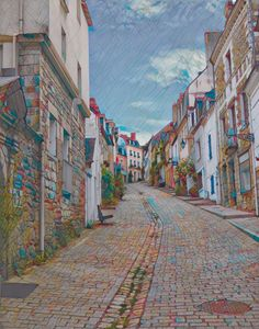 The Path to Auray Brittany