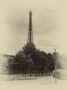 Antique Eiffel Tower