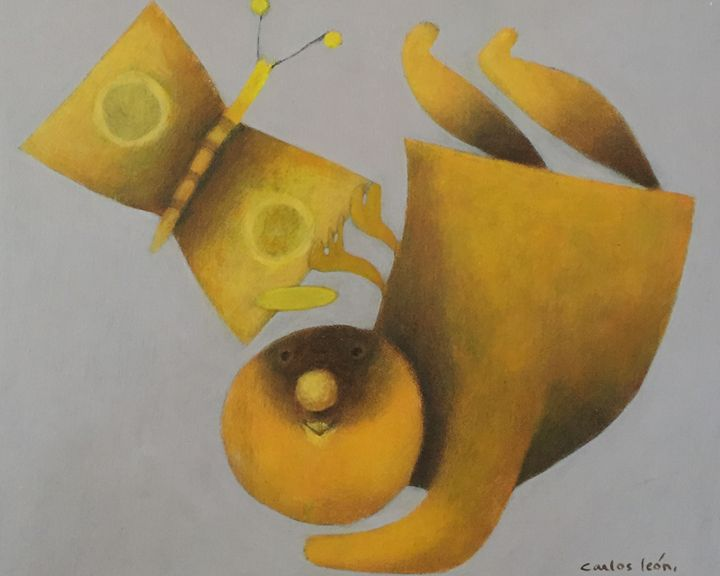 Butterfly and Angel - Carlos León Cruz Art