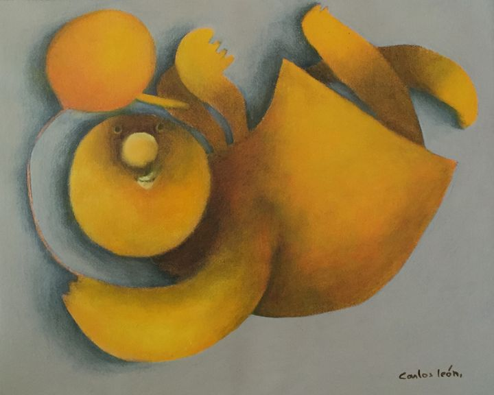 Yellow Angel - Carlos León Cruz Art