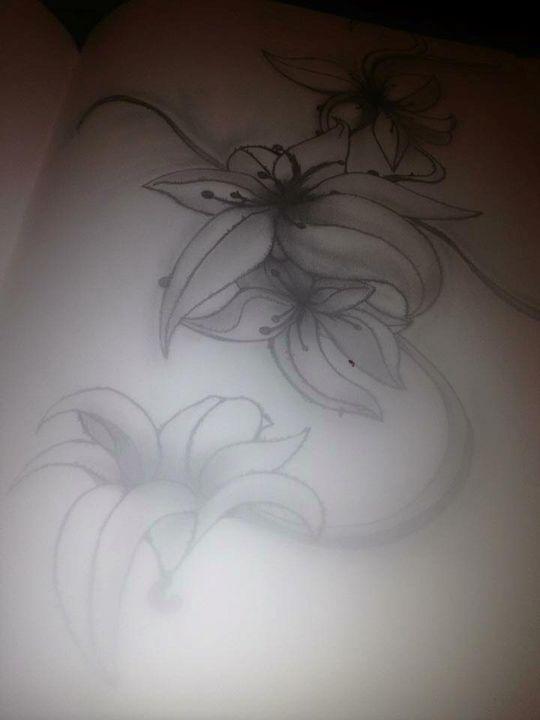 floral tattoo - Dracob Designs