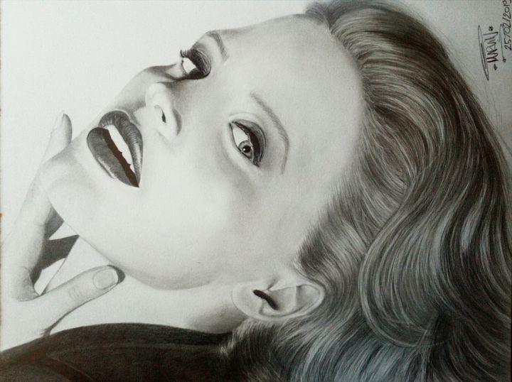 Jessica Chastain Pencil Portrait - Marv