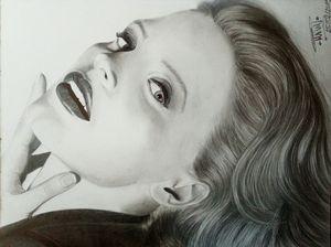 Jessica Chastain Pencil Portrait