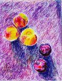 Original oil pastel drawing