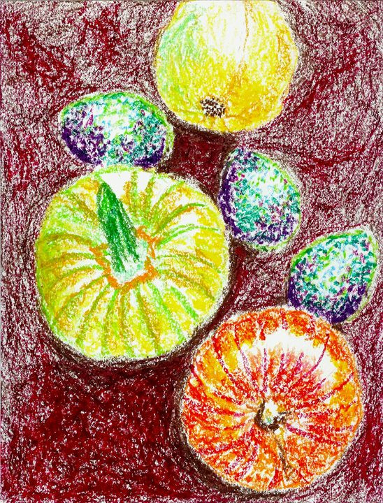 Still Life Avocados and Squashes - Robert S. Lee