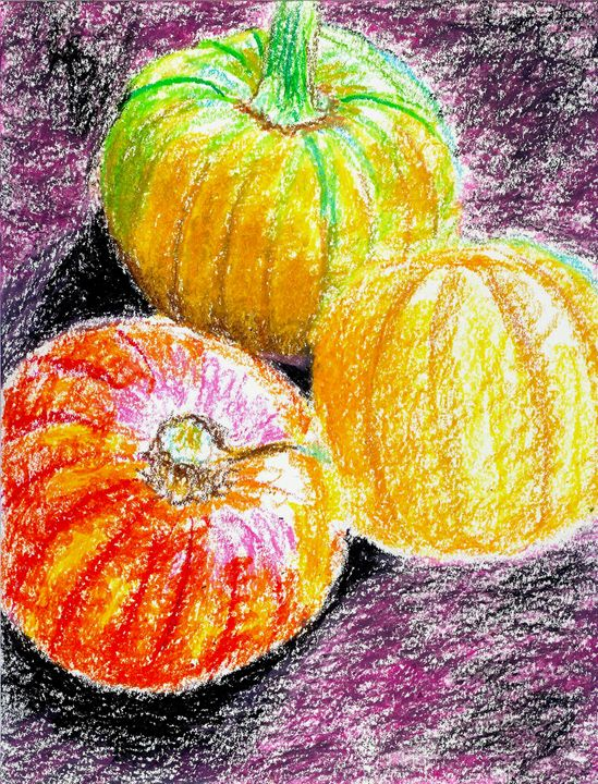 Still Life with Pumpkin and Squashes - Robert S. Lee