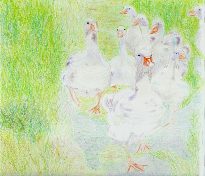 Geese by Robert S. Lee (p. 45) - Robert S. Lee
