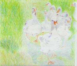 Geese by Robert S. Lee (p. 45)