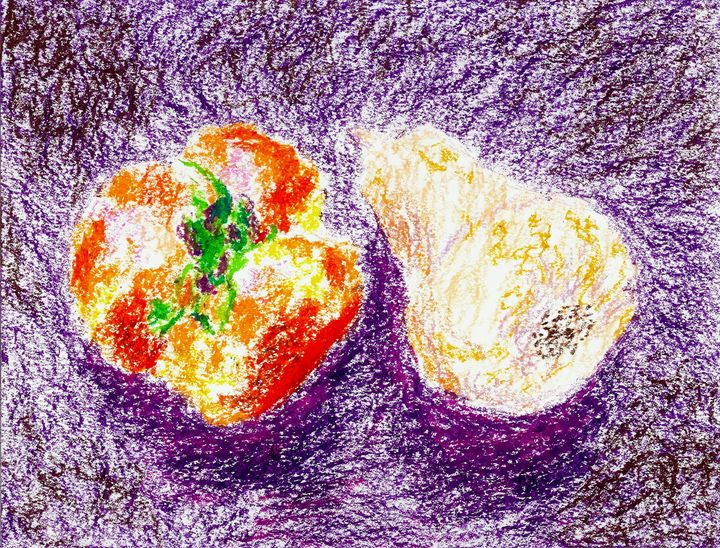 Still Life Persimmons and Squash - Robert S. Lee
