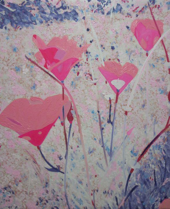 Re-Created Poppies, Pink - Robert S. Lee