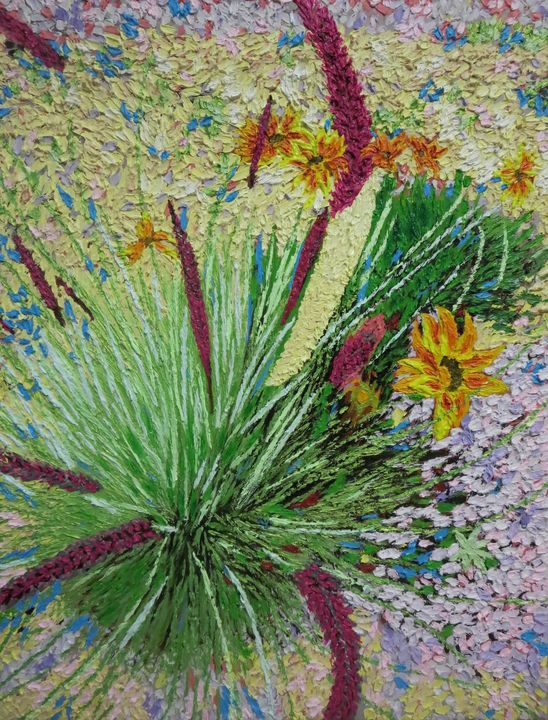 Re-Created Medallion Chrysanthemums - Robert S. Lee
